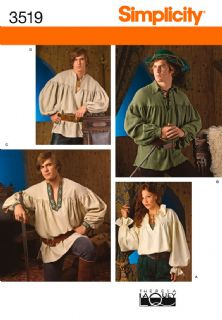3519 Simplicity Pattern: Misses', Men's and Teen's Costumes